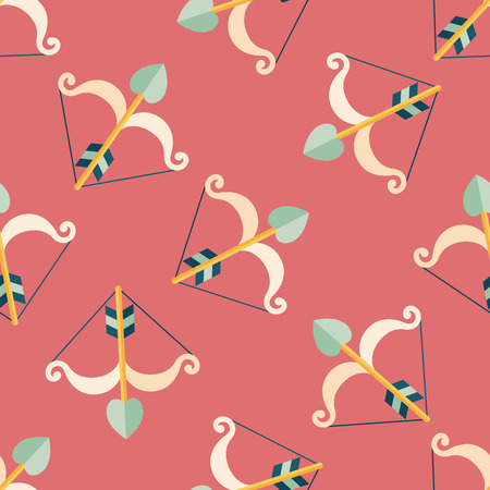 cupido: valentines day Cupid bow and arrow  seamless pattern background