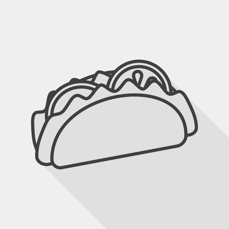 sub menu: sandwich flat icon with long shadow, line icon
