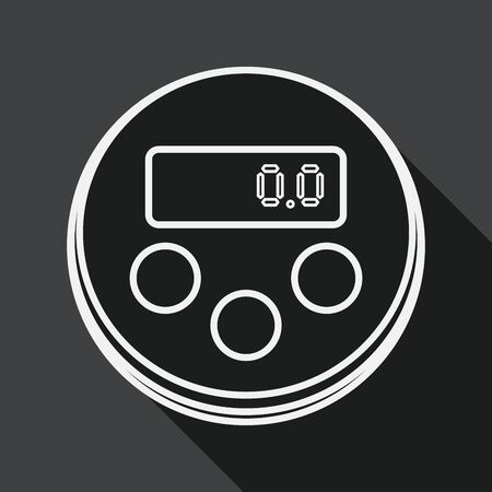 estimation: kitchenware timer flat icon with long shadow, line icon