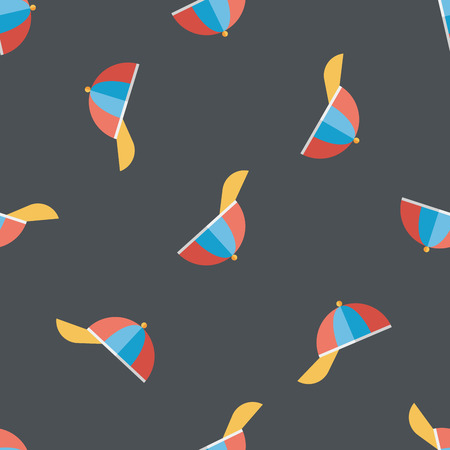 peaked: Peaked cap flat icon seamless pattern background Illustration