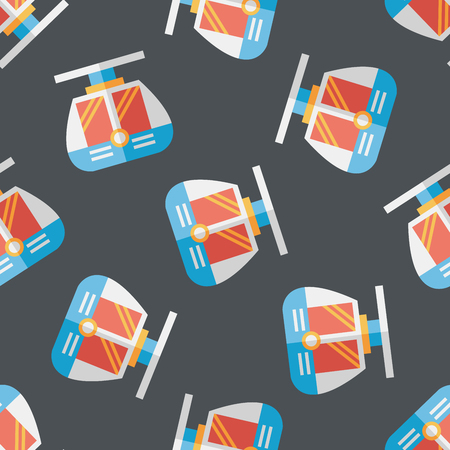 loco: tram flat icon seamless pattern background Illustration