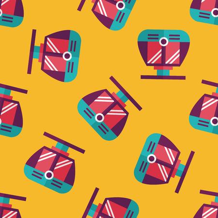 tramcar: tram flat icon seamless pattern background Illustration