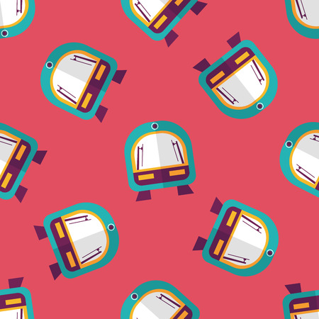 speed train flat icon seamless pattern background Vector