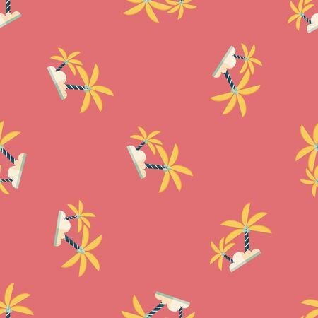 frond: Palm tree flat icon seamless pattern background
