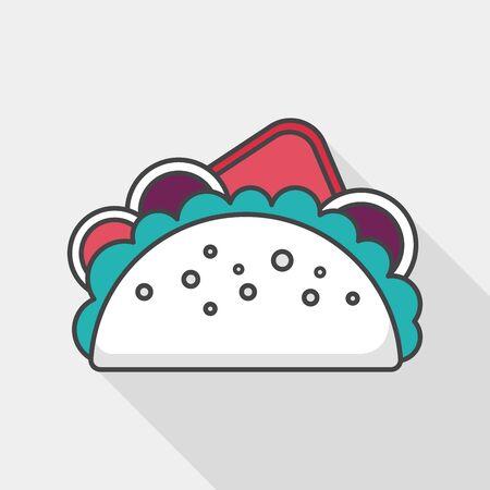 sub menu: sandwich flat icon with long shadow, Illustration