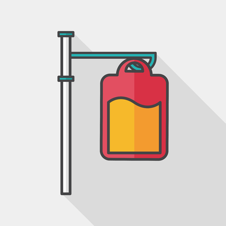 iv: IV bag flat icon with long shadow,