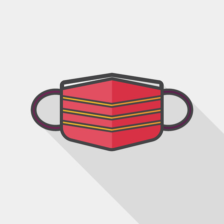 antifaz: m�dica icono plana m�scara con larga sombra