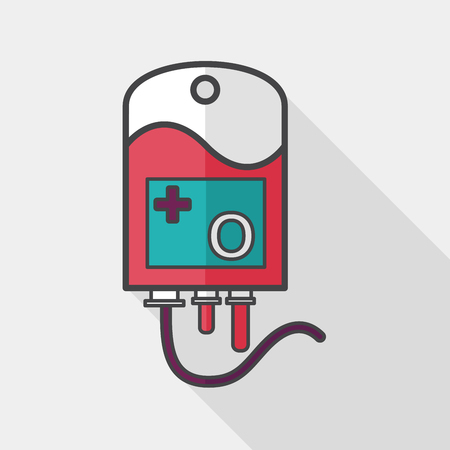 iv bag: IV bag flat icon with long shadow,