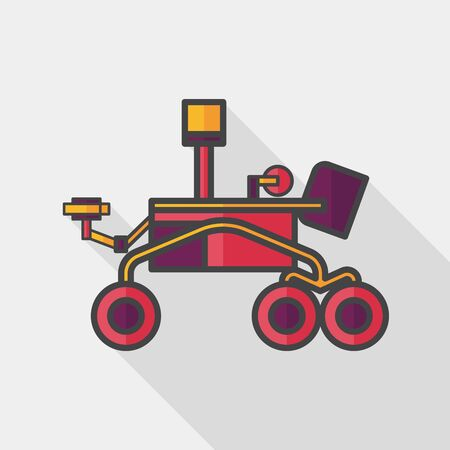 rover: Space Rover flat icon with long shadow