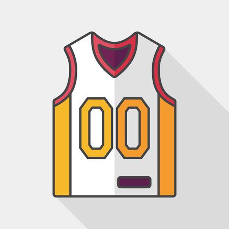 men shirt: basketball clothing flat icon with long shadow Illustration