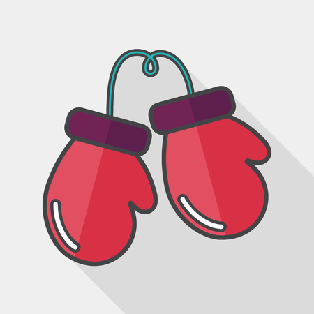 long gloves: boxing gloves flat icon with long shadow,