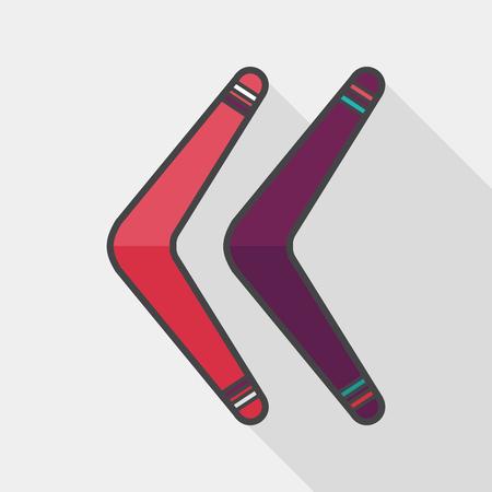 boomerang flat icon with long shadow