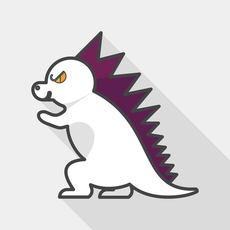 ascendant: Dinosaur flat icon with long shadow,