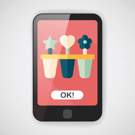 refrigerate: kitchenware ice maker flat icon with long shadow  Illustration