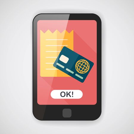 creditcard: shopping credit card bill flat icon with long shadow,eps10