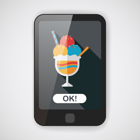 chock: ice cream flat icon with long shadow,eps10