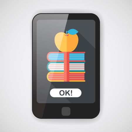 old people reading: bookshelf flat icon with long shadow,eps10