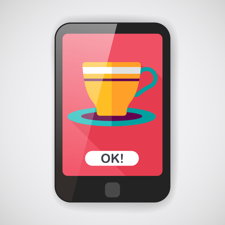 lliquid: coffee cup flat icon with long shadow,eps10 Illustration