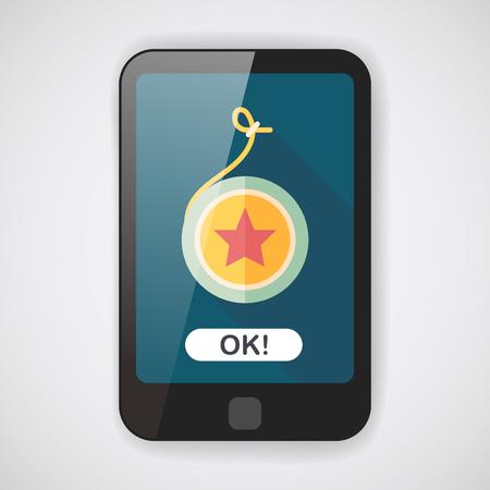 play yoyo: yo yo flat icon with long shadow,eps 10 Illustration