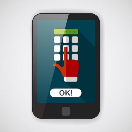 cuenta bancaria: Icono plana ATM con larga sombra Vectores