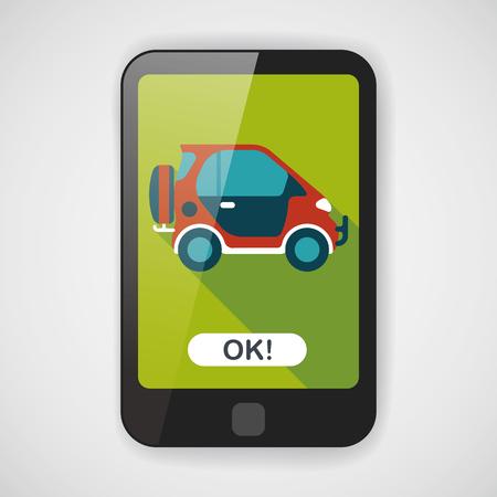 utility vehicle: Transportation Sports Utility Vehicle flat icon with long shadow