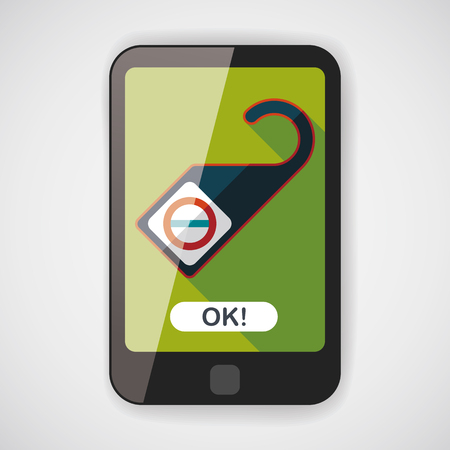 do not disturb sign: Do Not Disturb Sign, flat icon with long shadow Illustration