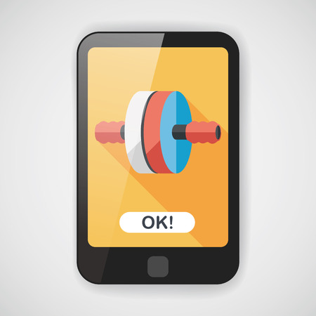 muscle toning: exercise roller flat icon with long shadow,eps10 Illustration