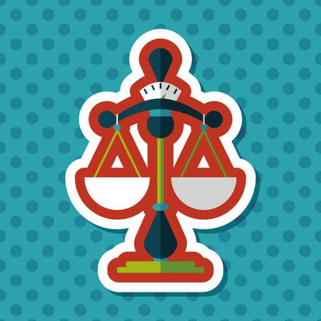ungleichgewicht: Balance flat icon with long shadow,eps10