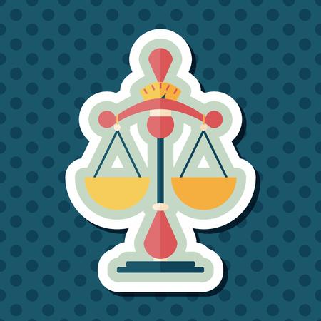 punish: Balance flat icon with long shadow,eps10