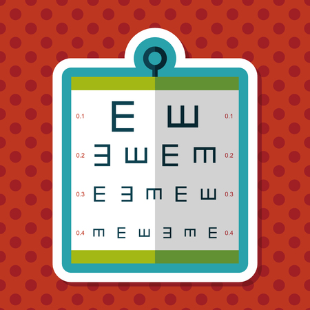 focus on shadow: eye test chart flat icon with long shadow,eps10