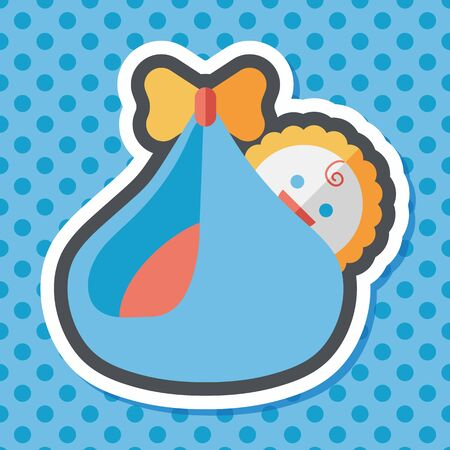 diaper baby: baby flat icon with long shadow,eps10