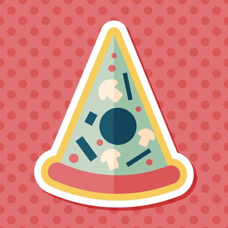 italian sausage: Pizza flat icon with long shadow,eps10