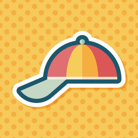 peak hat: Peaked cap flat icon with long shadow,eps10 Illustration