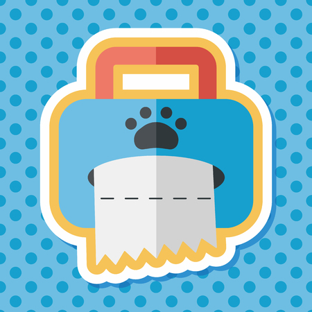 sniff: Pet style tissue case flat icon with long shadow,eps10