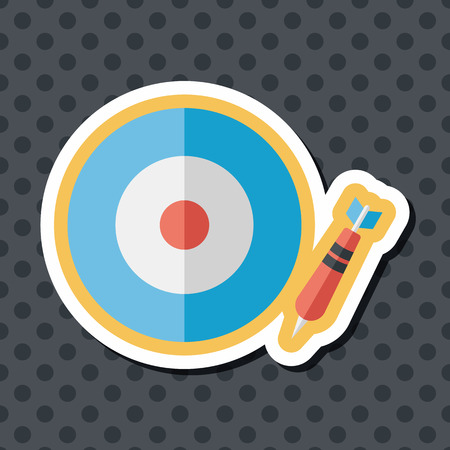 set the intention: Darts target flat icon with long shadow,eps10