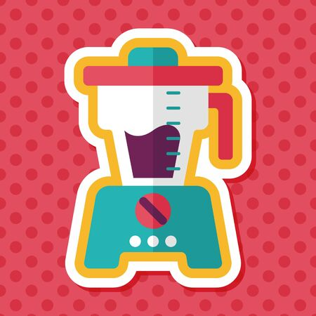 squeezer: kitchenware juicer flat icon with long shadow,eps10 Illustration