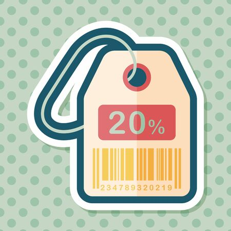 etiqueta: shopping sale price tag flat icon with long shadow,eps10