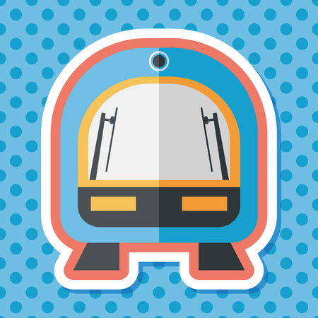 commuter: speed train flat icon with long shadow,eps10