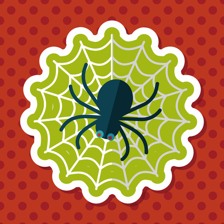 chitin: Halloween Spider flat icon with long shadow,eps10