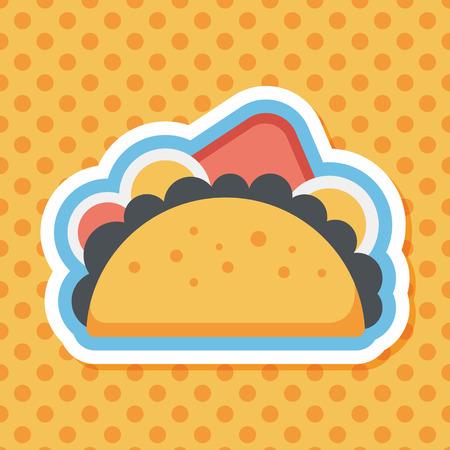 sub: sandwich flat icon with long shadow,eps10
