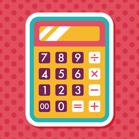 calculator icon: calculator flat icon with long shadow,eps10