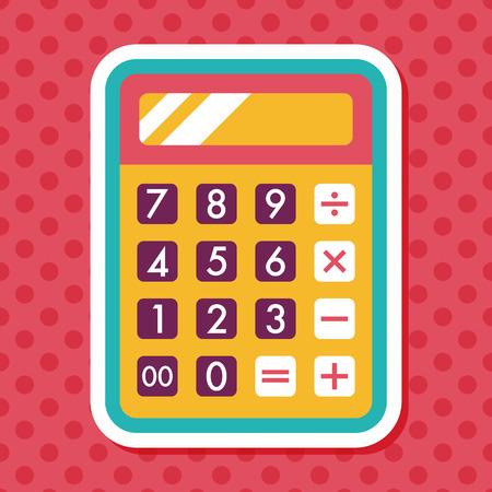 calculadora: icono de la calculadora plana con una larga sombra, eps10