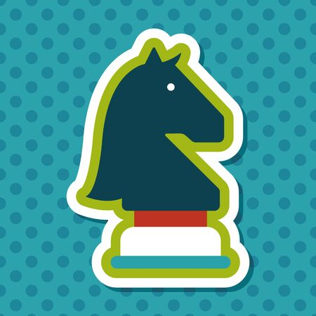 chess set: chess flat icon with long shadow,eps10 Illustration