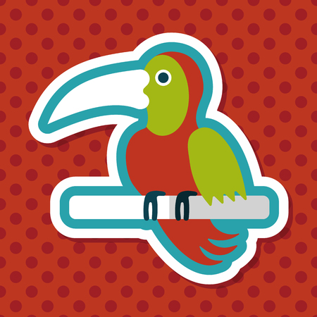 animal themes: Pet parrot flat icon with long shadow, eps10 Illustration