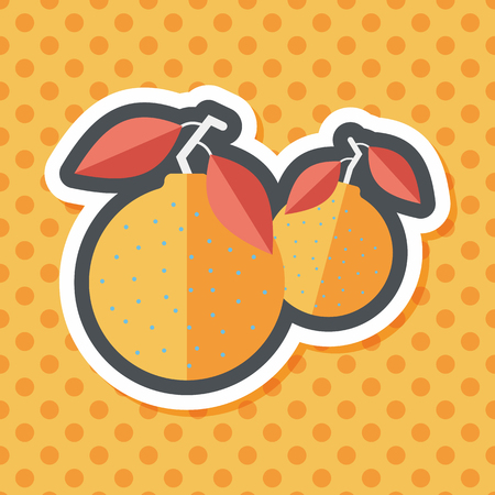 mandarin orange: Chinese New Year Mandarin Oranges flat icon wtih long shadow,eps10