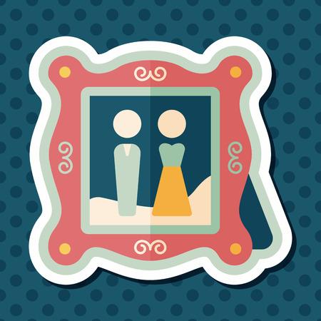 photoalbum: wedding photo flat icon with long shadow,eps10wedding photo flat icon with long shadow,eps10
