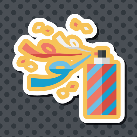 parade confetti: confetti flat icon with long shadow,eps10