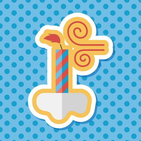 outdated: Birthday candles flat icon with long shadow,eps10