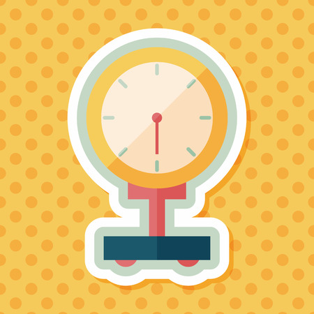 scale: weight scale flat icon with long shadow