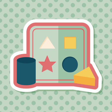baby playing toy: educational toy flat icon with long shadow,EPS 10 Illustration